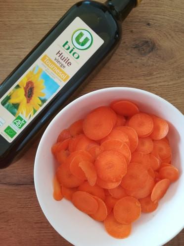 DIY Ingrédients Carottes et huile bio