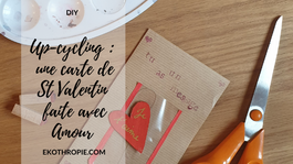 DIY : Carte de St Valentin Up-Cyclée