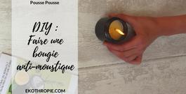 ZERO DECHET : Réaliser une bougie anti-moustiques - Code promo Pousse-Pousse