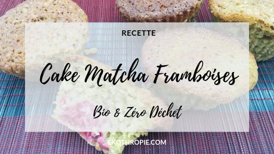 Cake framboise et thé macha