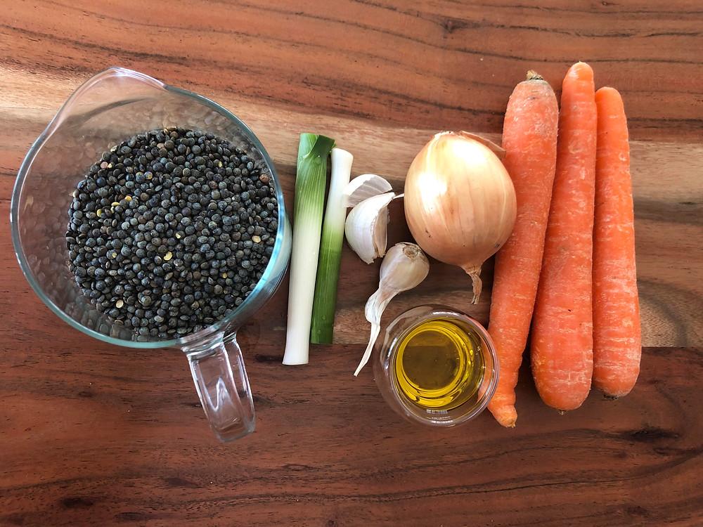ingrédients GREEN MONDAY : Les lentilles aux légumes de Marie.objectifzerodéchet !