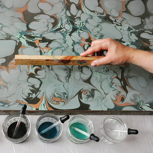 PAPER MARBLING: COLOR PLAY