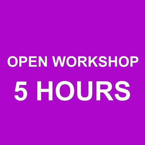Open Workshop (5 hour Increments)