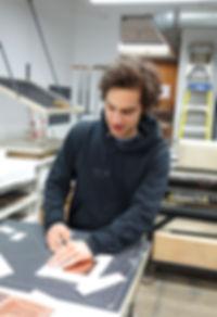 The New York printmaking workshop, Manhattan Graphics Center's studio