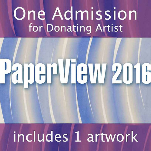 One Admission for a Donating Artist