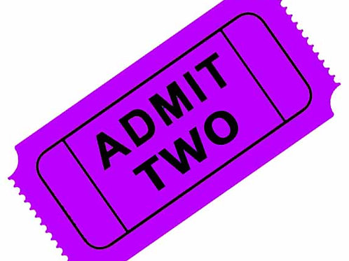 2 Regular Admission Tickets