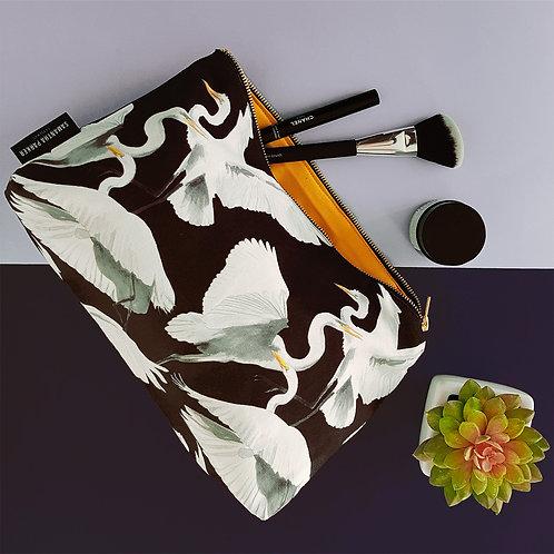 Large 'Three Heron' Cosmetic bag