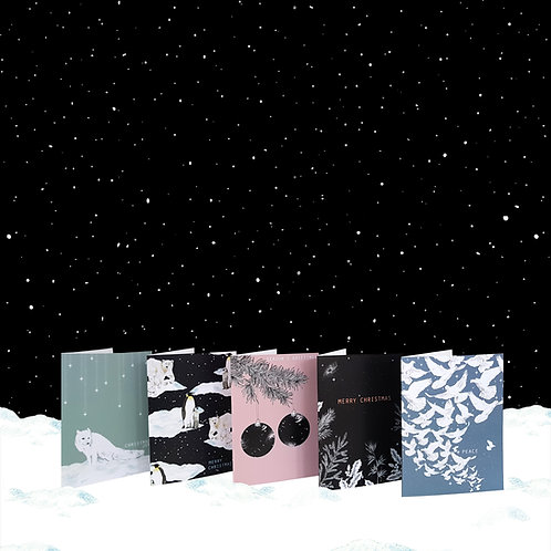 10 x A6 'Cosmic Christmas' Charity Cards (Eco-Friendly)