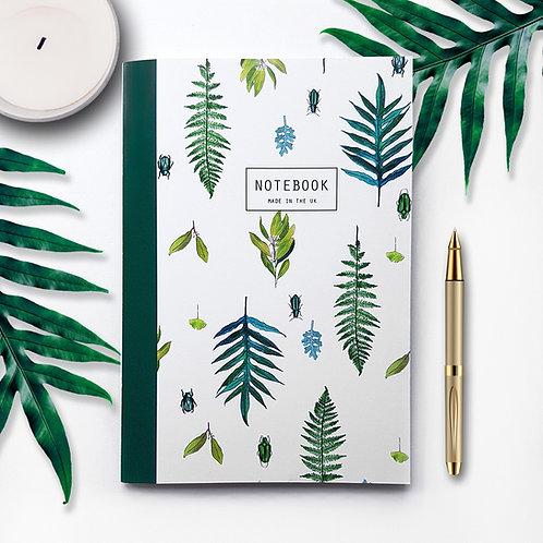A5 'Spring Leaf' Lined Notebook