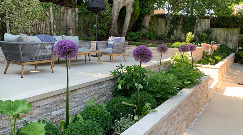 Split level garden in Nottingham. Escape Garden Design and Build