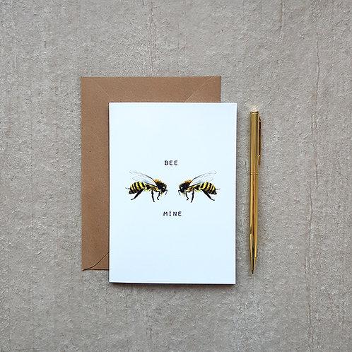 'Bee Mine' Valentine's Card