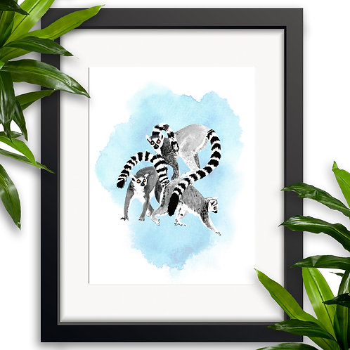 Lemur Wall Art