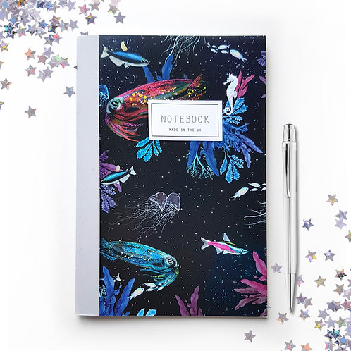 A5 'Celestial Sea' Lined Notebook