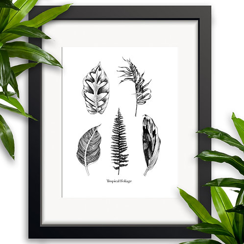 Tropical Foliage Wall Art