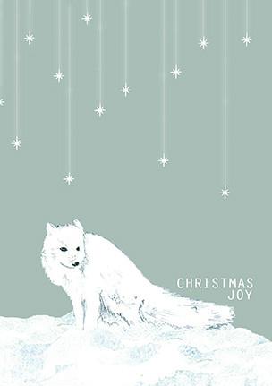 Arctic Fox card, arctic fox, fox, fox card, white fox, snow fox, xmas cards