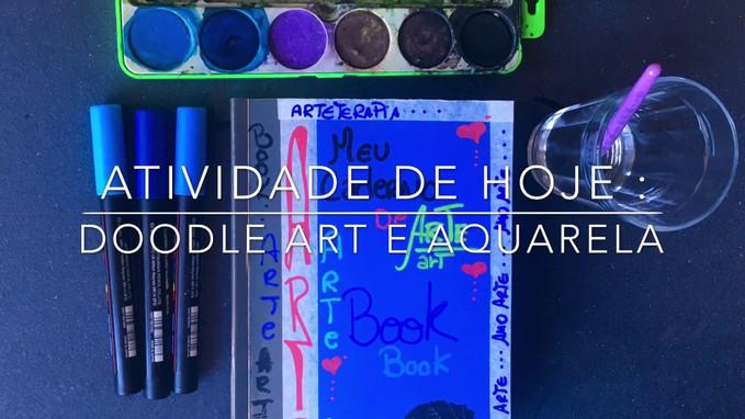 DOODLE ART E AQUARELA