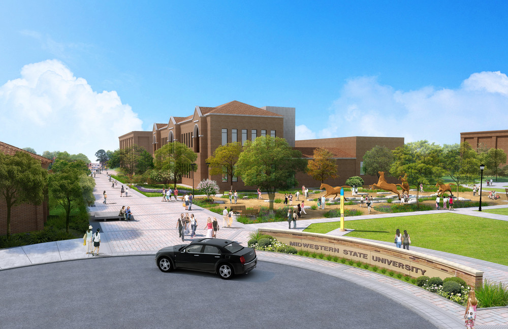 Midwestern State University Student Plaza Drop-Off