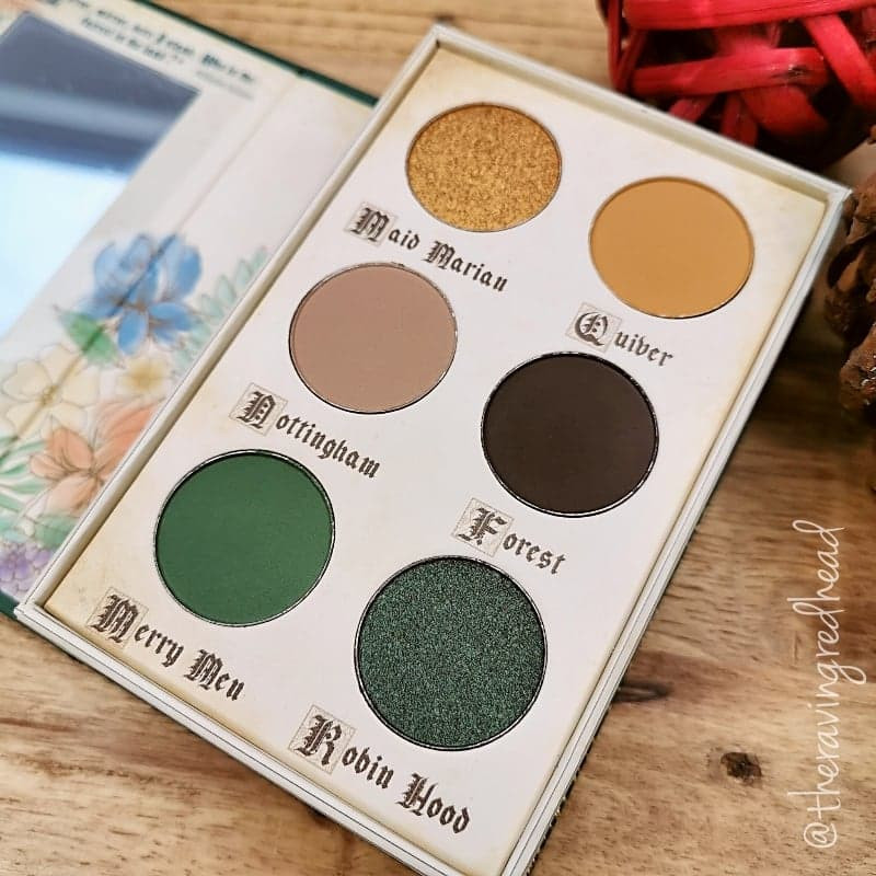 Storybook Cosmetics Robin Hood Palette Shades