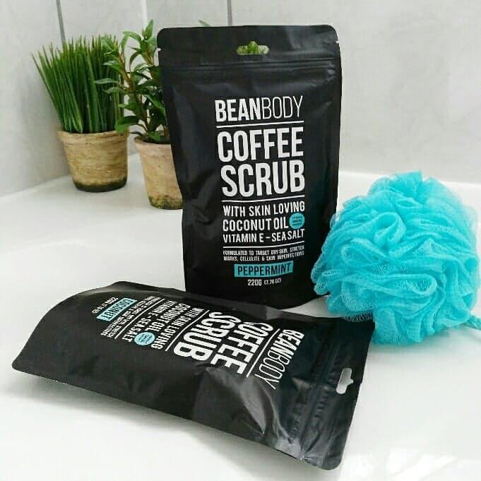 Bean Body Coffee Scrub in Bathroom