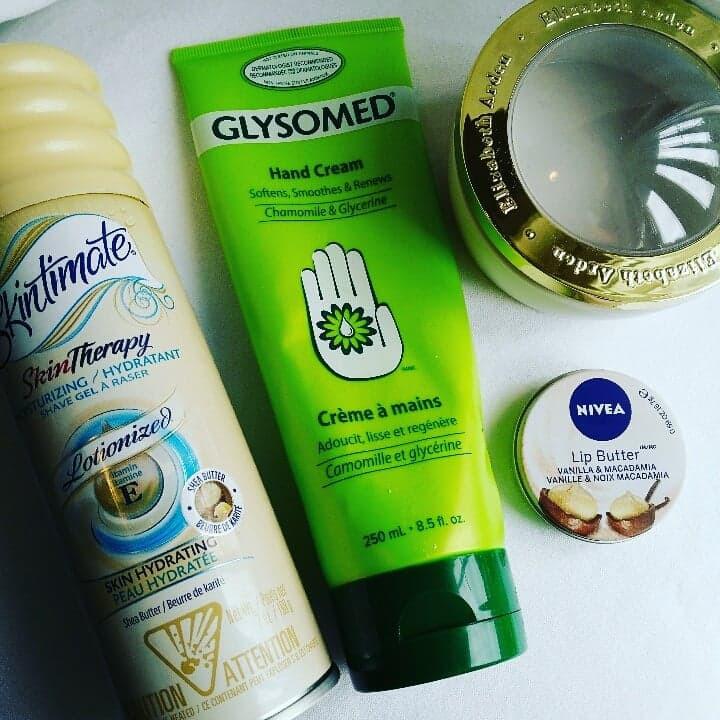 Skintimate, Glysomed, Elizabeth Arden Capsules, Nivea Lip Butter Empties