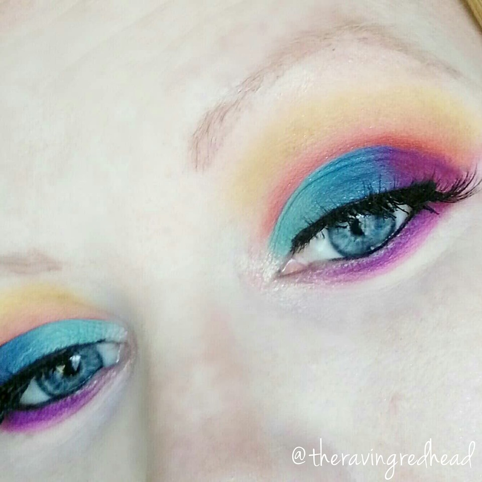 Look created using the Pac-Man Game Over Eyeshadow palette