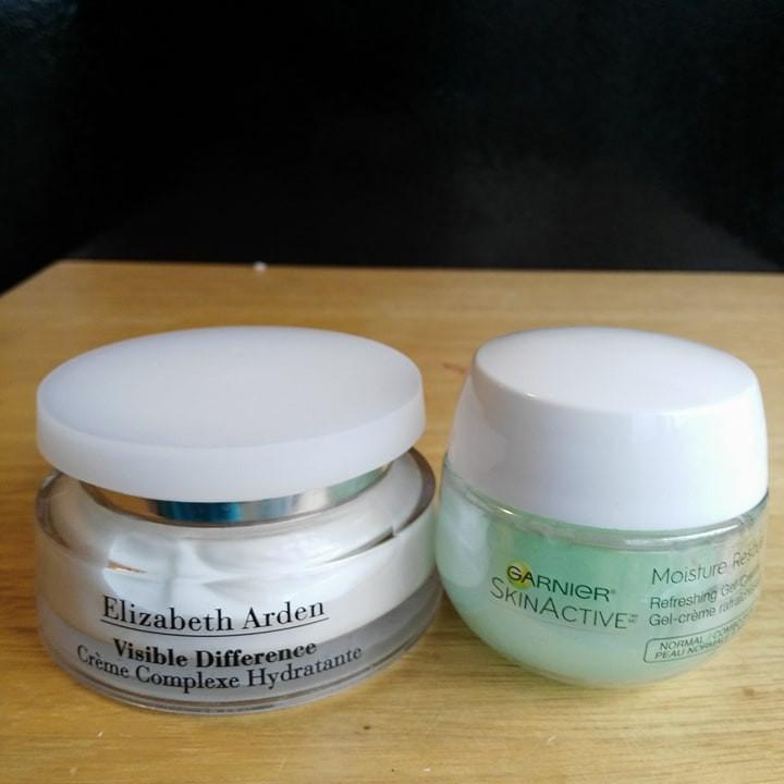Elizabeth Arden Visible Difference Refining Moisture Cream Complex and Garnier Skinactive