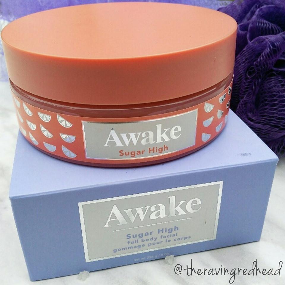 Awake Sugar High Body Scrub Packaging