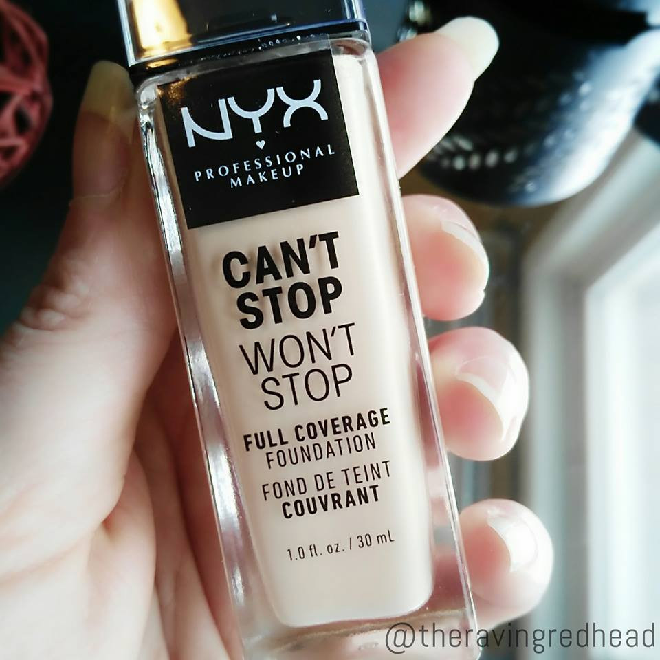 NYX Can't Stop Won't Stop Foundation Label
