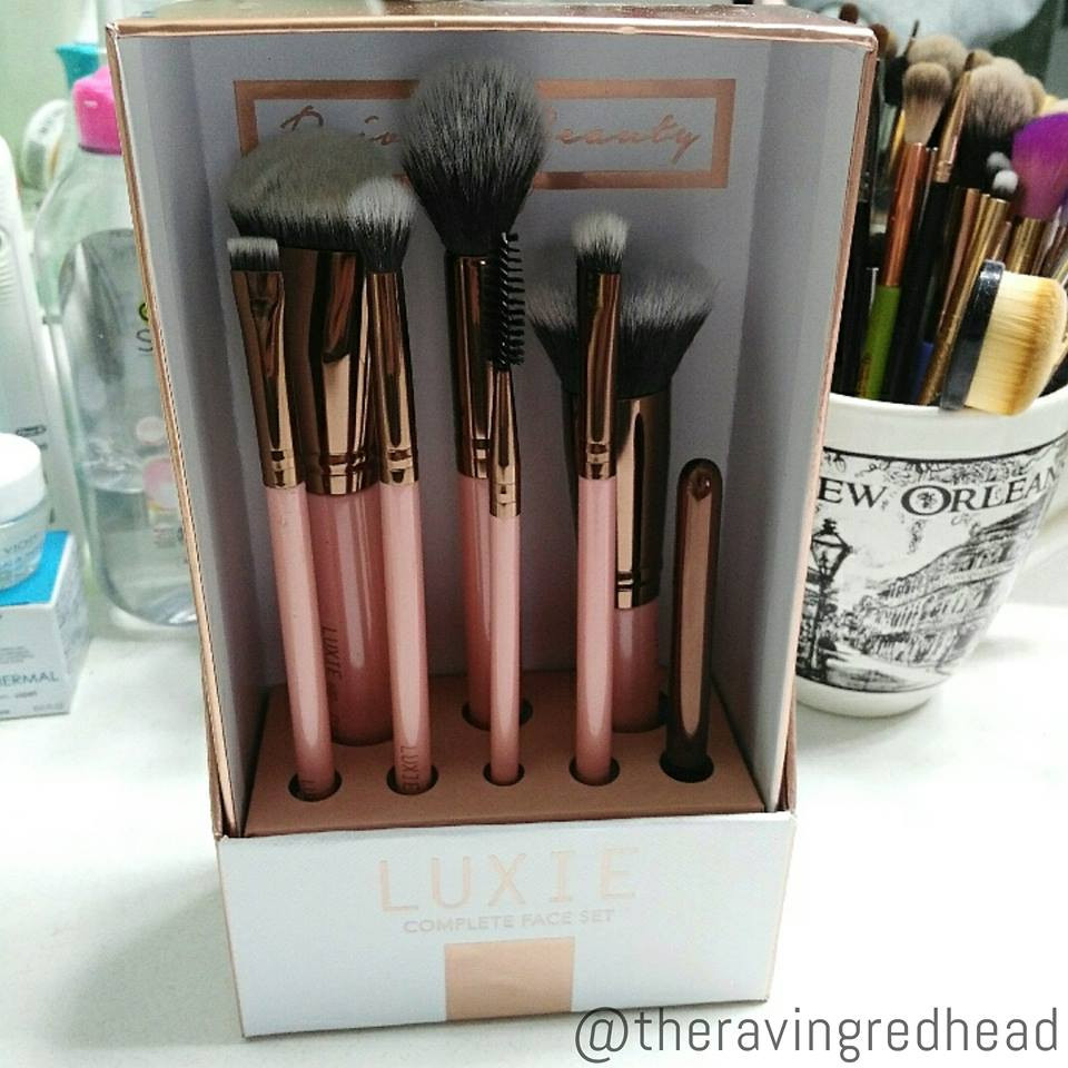 Luxie Rose Gold Complete Face Brush Set