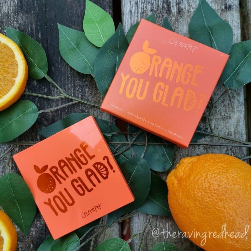 Colourpop Orange You Glad Packaging