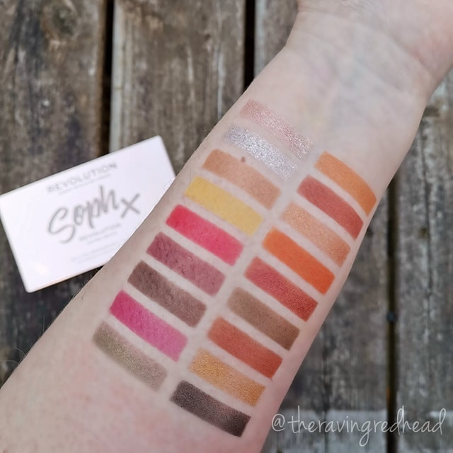 Swatches from Soph Extra Spice Palette