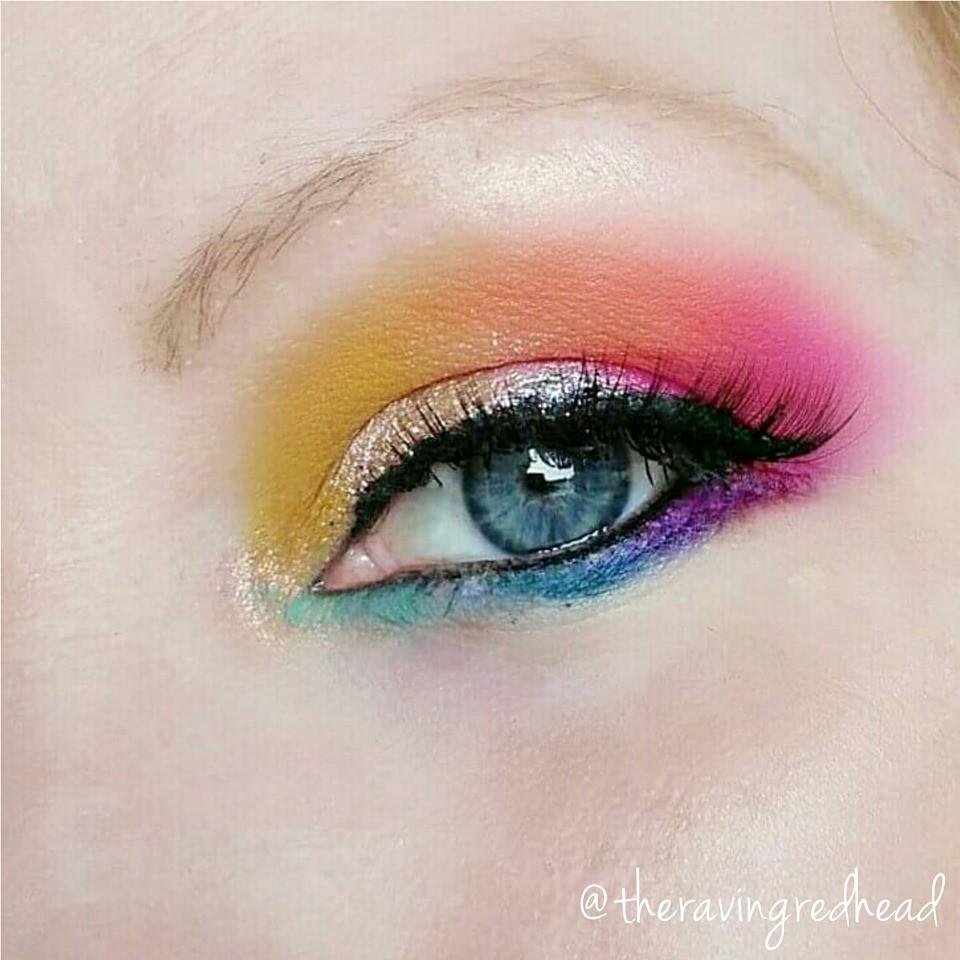 Eyeshadow look created using the Wet n Wild x Pac-Man palette