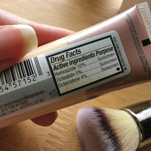 Maybelline Dream Urban Cover Sunscreen Ingredients