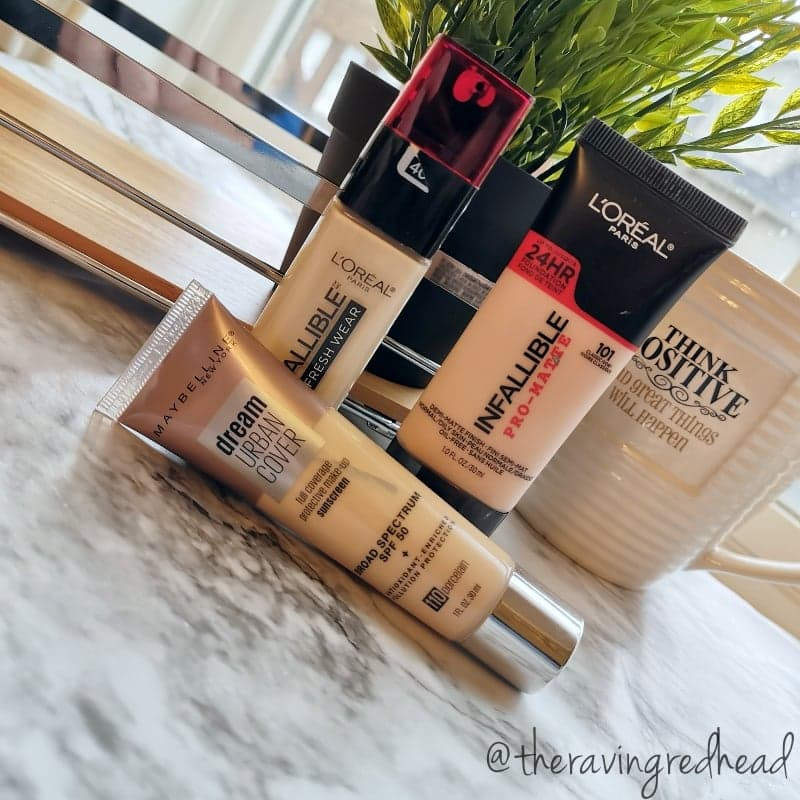 L'Oreal Infallible Foundations and Maybelline Dream Urban Cover