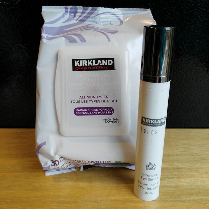 Kirkland Makeup Wipes and Kirkland Borghese Intensive Eye Serum