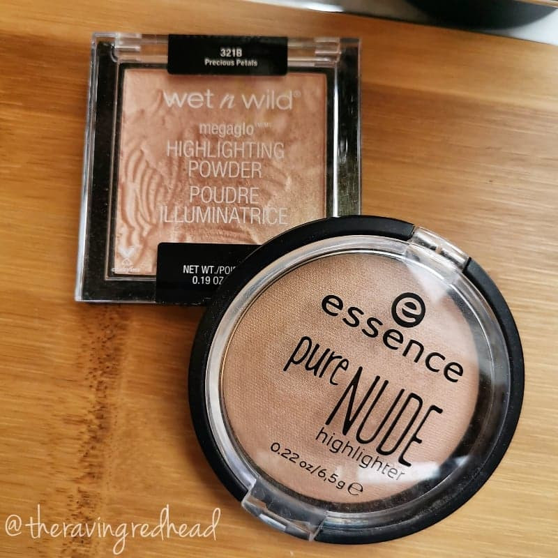 Wet n Wild Megaglo Highlighting Powder and Essence Pure Nude Highlighter