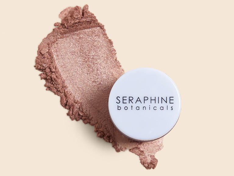 Seraphine Botanicals Crystal + Chrome Loose Pigment in Smokey Quartz
