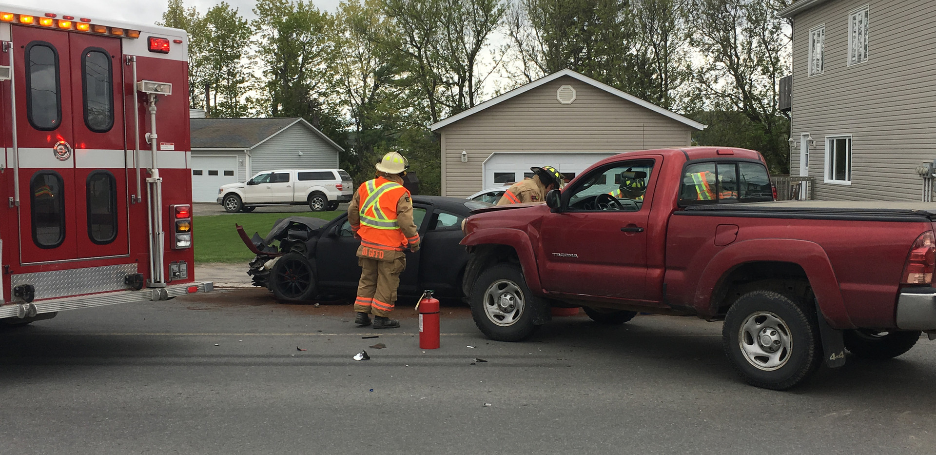 Accident Tobique road