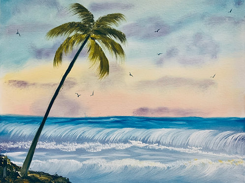 Palm Tree in a Beach