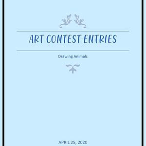 Animals Visual Art Contest
