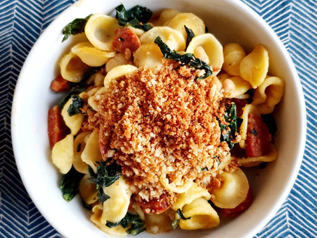 Store Cupboard Suppers - Orecchiette with Kale, Chorizo and Cannellini