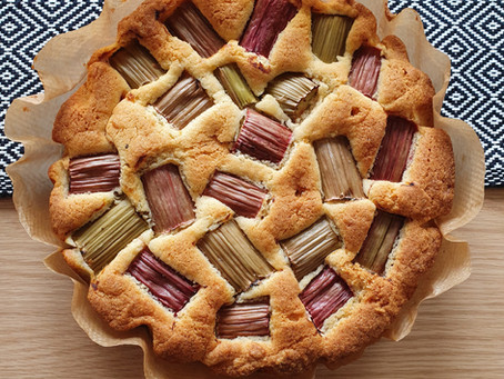 Summer Rhubarb Cake