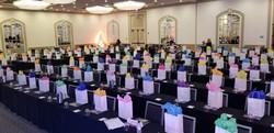Gift sacks display
