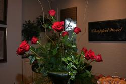 Floral Arrangement & Branded Sign
