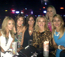 Lea Haller Black from Real Housewives of Miami with Vicyoria & friends