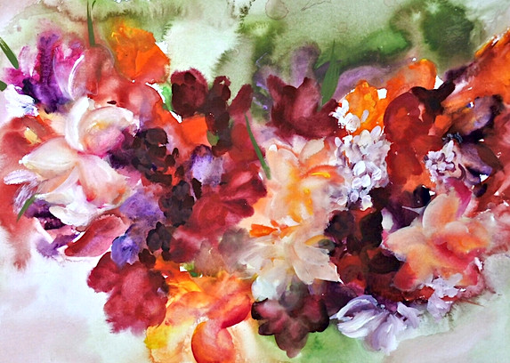 südsee-blumenkranz-12-barbara-holter-aquarell-natur-bilder-österreich-malerei-malerin-gemälde