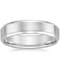 Platinum gents ring