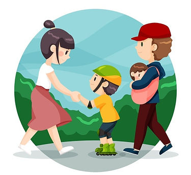 hand-drawn-family-teaching-how-skate_23-