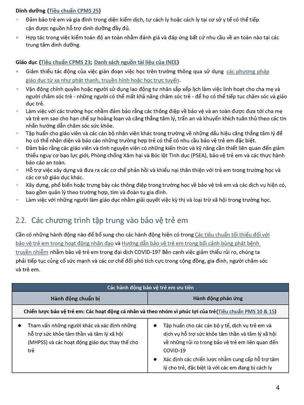 Tóm tắt tài liệu Bảo vệ Trẻ em trong đại dịch Coronavirus