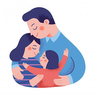 concept-illustration-happy-family-huggin